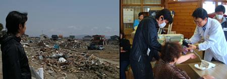 医療ボランティアの一員として中野信治が宮城県東松島市を訪れました